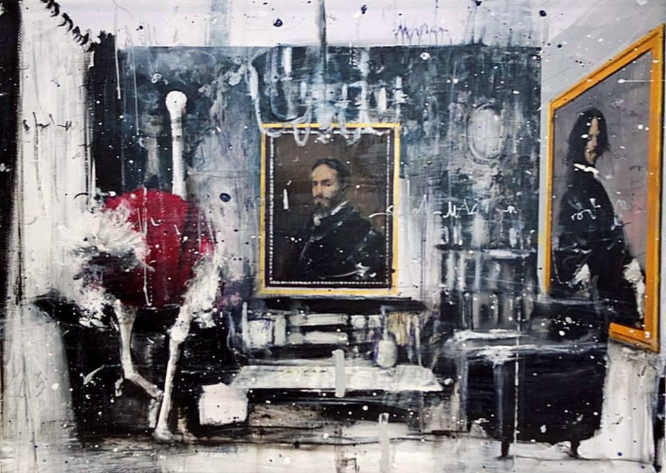 Angelo Accardi - Misplaced 2015 - Tecnica Mista su tela - cm. 70 x 50