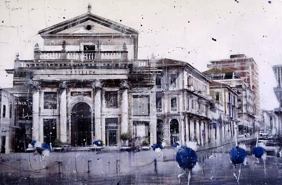 Angelo Accardi - Misplaced Lanciano 2014 - Tecnica Mista su tela - cm. 150 x 100 Collezione Privata