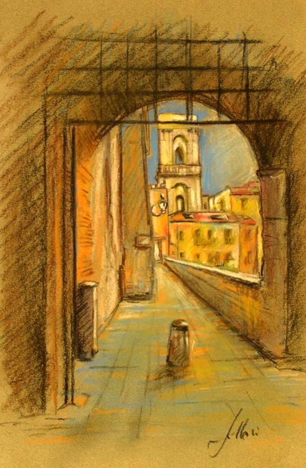 Enrico Felloni_1- Mostra Artisti per Lanciano - Pastello - cm. 20 x 30 - Collezione Privata