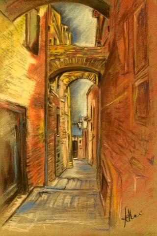 Enrico Felloni_3 - Mostra Artisti per Lanciano - Pastello - cm. 20 x 30 - Collezione Privata