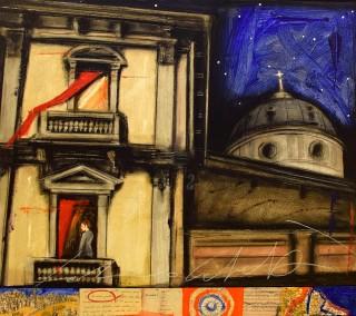 Fabio Calvetti - Mostra Artisti per Lanciano - Le mie parole - Tecnica Mista su tavola - cm. 80 x 70
