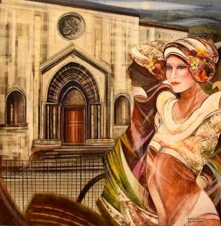 Mostra Artisti per Lanciano - Franco Brescianini - Dipinto cm. 80 x 80