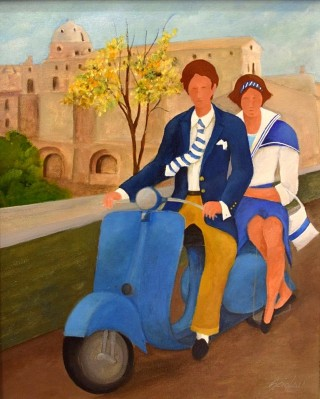 Renato Sciolan - Mostra Artisti per Lanciano - Olio su tela - cm. 40 x 50
