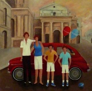 Renato Sciolan - Mostra Artisti per Lanciano - Olio su tela - cm. 50 x 50 - Collezione Privata